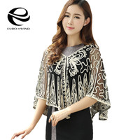 Wholesale Transparent Kimono Cardigan - Wholesale- Women Summer Beach Cover Up Kimono Long Fringes Coat Cardigan Jacket 2017 summer tops Cardigan Lace Transparent Cloak Shawls