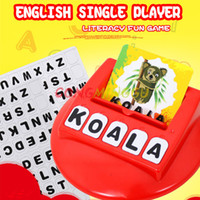 Wholesale Iq Baby Toys - English Word IQ Puzzle Toys for child Early Learning Montessori Educational Literacy Fun Game Baby letters card Learning Machine
