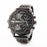 нержавеющая сталь oulm оптовых-Wholesale-2016 New OULM 3548  Stainless Steel Dual Time Zone Watches for Men Relogio Masculino Original Montre Homme de Marque Luxe