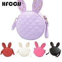 Wholesale Cute Shoulder Bags For Sale - Wholesale- Hot Sale! Pretty Style Cute Girl Rabbit Ear Round Bag Rivet Shoulder Messenger Bags For Women Crossbody Bag Leather Female Bolsa