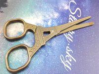 Wholesale Eiffel Scissors - Wholesale-1PC Creative Zakka Vintage European Titanium Tailor's Scissor Fine Handicrafts Eiffel Tower Pattern Sewing Cutting Supplies