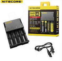 Wholesale Nitecore I4 Intellicharge - 2015 New Nitecore i4 Intellicharge Universal Battery Charger RCR123A 26650 18650 AA AAA WIth Retail box Free Shipping