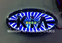 Wholesale Car Logo Light Kia - Free shipping 3 d LED car sticker LOGO light red badge light emblems sticker Kia series