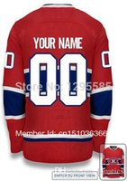 Wholesale Edge Jersey - 2017 Canadiens EDGE Authentic RED (Home) WHITE (Road) Custom Ice Hockey Jersey