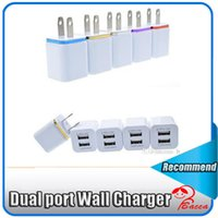 Wholesale Home General - Home travel dual port Wall Charger dual usb port Power Adapter metal Mushroom US Plug Charging general For iPhone Samsugn LG htc