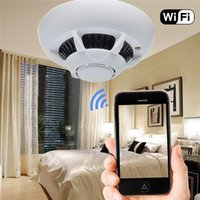 Wholesale security camera for android for sale - WiFi Wireless IP Camera Smoke Detector Camcorder UFO Super Camera Cam Security DVR Video Recorder P2P for IPhone Ipad Android Phone