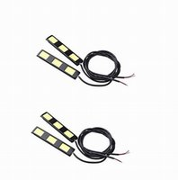 Wholesale E4 Led Daytime Light - 9W set DC12V white 3COB*2 led Daytime running lights cold white fog lamps or reversing light E4 waterproof 2 pairs JTCL059-ly