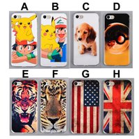 Wholesale Dog Tpu - For iPhone 7 Cartoon Pikachu TPU Case UK US Flag Cute Dog Tiger Lion Painting Gel Soft Phone Back Cover for iphone7