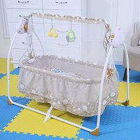 Wholesale Fashion Electric Baby Crib Baby Cradle With Mosquito Nets Baby Rocker Swing Bed New Design Colors