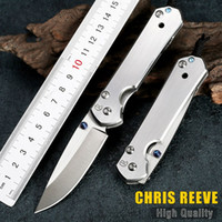 Wholesale ckf knives for sale - Chris Reeve small sebenza knife satin blade stainless steel handle outdoor pocket knife EDC tool
