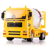 Wholesale Mixer 24 - Wholesale- 2016 New 7CH Remote Control Mixer Truck Toys Simulation RC Concrete Truck Dumper trucks Kids Educational Toys Best Gifts