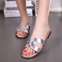 Wholesale Summer Slipper Princess Sandals - Summer Outdoor BeachFashion Casual Loafers Flat Heel Slippers Sandals Ladies Princess Women Shoes Sz 34-39