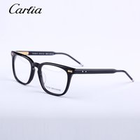 Wholesale Eye Frame Woman - Men Women Optical acetate prescription spectacle Square Thom tb402 TB-402 Myopia Eye glasses Frame Eyeglasses Frame 53mmwith original case