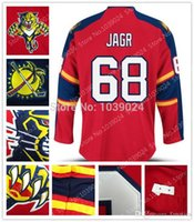 Wholesale Wholesale Drop Stops - 016 Nre Brand- Newest Florida Panthers 68 Jaromir Jagr Jersey Red Team Color New Jagr Panthers Hockey Jersey Drop Shipping Top Quality