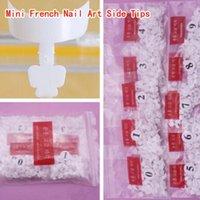 Wholesale Mini French Tips - 500pcs Acrylic Mini French Nail Art Side Tips In Bag False Nails Fake Nails Tips Free Shipping