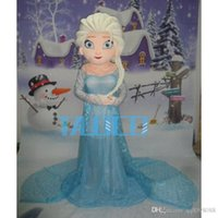 Wholesale New Style Mascot Costumes - 2015 new style Elsa mascot costume cartoon princess elsa performing costumes walking mascot costumes for adult size