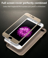 Wholesale Glasses Software - Tempered Glass Full Screen Protector For Iphone6 6 Plus And IPhone 7 7 plus 9H 3D Carbon Fiber Anti Scratch Software Glass Film protection