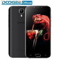 Wholesale Lte Dual Wcdma - DOOGEE X9 Pro LTE Fingerprint mobile phones 5.5Inch HD 2GB+16GB Android 6.0 Dual SIM MTK6737 Quad Core 8.0MP 3000mAH WCDMA GPS