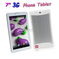 mtk6572 desbloqueo de doble núcleo al por mayor-Bluetooth GPS Dual SIM Phablet 3G WCDMA Llamada desbloqueada Tablet PC MTK6572 Dual Core 7inch Android 4.2 Cámaras dobles 1024 * 600 WIFI