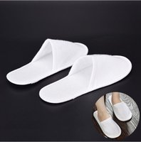 Wholesale Folding Towels - Disposable White Slippers Business Touring Hotel Club Portable Non Folding Slippers Non Woven Towel Hotel Disposable Slippers Free Mail