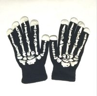 Halloween Skull Guantes Show Props Dance Party Ghost Terror Fantasma guantes Bone mittens Novely cosplay constume guantes