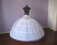 Wholesale Size Hoop Skirt - Hot Selling Plus Size Bridal Crinoline Petticoat Skirt 4 Hoop Petticoats For Ball Gowns Wedding Accessories Real Sample In Stock