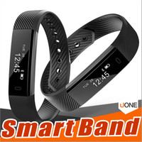 Wholesale Calories Bracelet - ID115 Smart Bracelet Band Fitness Tracker watch Wireless Touch Screen Sleep Monitor Activity Step Distance Calorie Counter for Android  iOS