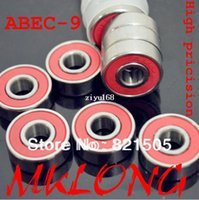 Wholesale Abec Skate Bearings Wholesale - 20PCS High pricision chrome steel 608zz bearings skateboard long board scooter roller skates bearing ABEC-9