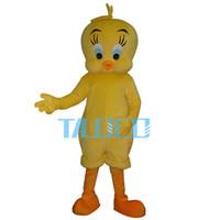 Wholesale Tweety Bird Mascot Costume - Tweety Looney Tunes Mascot Costume Cartoon Bird Fancy Dress Adult Free shipping
