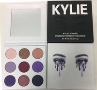 Wholesale Wholesale Powder Palette - Newest Kylie Jenner Fall Collection The Purple Palette Launching 9colors Pressed Powder Eyeshadow Kyshadow by Kylie cosmetics DHL ship