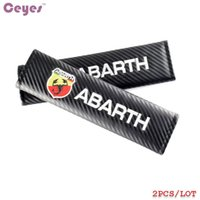 Wholesale fiat car cover - Car Accessories Safety Belt Cover Carbon Fiber Seat Belt Cover for Abarth 500 Fiat Universal Shoulder Pads Car Styling 2pcs lot