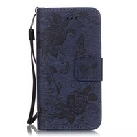 Wholesale Stripped Iphone Case Tpu - Wallet Leather Case Flower Pouch Butterfly Stand Card Money TPU Strip For Iphone 6S 6 Plus 5.5 4.7 SE 5 5S LG G5 K7 Samsung Galaxy A310 Skin