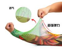 Wholesale Nylon Stretchy Fake Tattoo Sleeves - Types of 140 colors Fashion Unisex UV Protection nylon tattoo sleeve stretchy Arm Stocking fake tattoo Apparel tattoo sleeve LJJC1244 200pcs