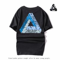 Wholesale West Mountain - Asian Size 2017 Palace Skateboard High Quality with Real Tag Patchwork T Shirt Men Women Kanye West Brand Clothing Mountain Tee TShirts