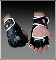 Wholesale Boxe Thai - 2015 new 1 Pair PU Leather mens muay thai MMA boxing gloves  guantes de boxeo  MMA half fighting Boxing Gloves luva de boxe