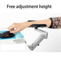 Wholesale Hand Rest For Mouse - Metal Adjustable Height Ergonomic Aluminum Alloy Mouse Pads Computer and Mouse Hand Bracket Hand Drag Wrist support