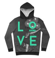 Wholesale hoody custom - Real USA Size Drunk in love 3D Sublimation print custom made Hoody   Hoodie Plus Size