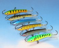 Wholesale Ice Jigs - 6 Colors Ice Fishing Jigging Vertical Lures 7.7cm 21.7g Balance Hook Winter Fishing Lure Hard Bait Lead Fish Jig Lure
