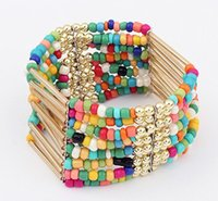 Wholesale Korean Women Beaded Bracelets - Wholesale-The New Design Korean Fashion Bohemian Style Elasticity Handmade Beaded Bracelet Jewelry 2015 Fashion Woman Y8969