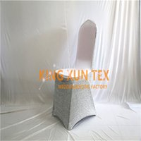 Shiny Light Cheap Wedding Lycra Spandex Chair Cover \ Banquet Chair Covers Gold and Silver Color Frete Grátis