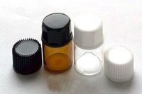 Wholesale amber glass prices for sale - Group buy Factory Price Dram ml Amber or Transparent Glass Essential Oil Bottle with Inside plug and Black White Caps
