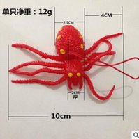 Wholesale Soft Rubber Spiders - Soft Rubber Spiders Toys Kids toys Baby Animal model simulation Small spider April Fool's Day Halloween trick toys Peculiar Gift MT 001