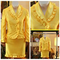 Wholesale New National Pageant Dresses Blue - 2017 Yellow New Little Girls Pageant Formal Interview Suit Cheap Little Girls Pageant Prom National Interview Suits Short Pageant Dress