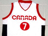 Mens economici STEVE NASH TEAM CANADA JERSEY BIANCO NEW ANY SIZE XS - 5XL Retro Basketball Maglie