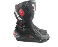 Wholesale Boots 44 - Motorcycle Boots Moto Racing Motocross Off-Road Motorbike Shoes Black White Size 40 41 42 43 44 45