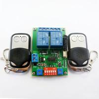 Wholesale Dc Delay - 2x EV1527 Keyfob & DC 12V 2Ch RF Timer Delay Relay Remote Switch