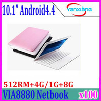 512MB / 4G da 10 pollici Tab sottile Android Netbook Notebook Pad 4.2 del Dual Core Student Kid scuola portatile Netbook Mini Computer PC 100pcs ZY-BJ-3