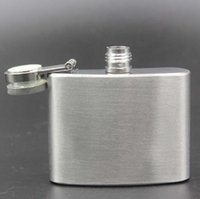 Wholesale Wholesale Bottles For Alcohol - Hoe sale 2oz(60ml) Stainless Steel Hip Flask Pocket Bottle For Whiskey Liquor Wine Flagon Alcohol With Lid