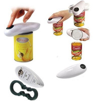 Wholesale Tin Can Bottle Opener - Automatic Tin Can Opener Electric Hands Free Operation Kitchenware with Jar Bottle Wrench corkscrew abridor de garrafa