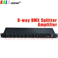 (2Pcs / Lot) Moving Distributore a 8 vie Responsabile Fase di illuminazione DMX512 segnale DMX Splitter Amplifier